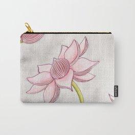 Mauve Lotus Carry-All Pouch