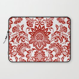 Damask in red Laptop Sleeve