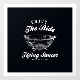 Flying Saucer Art Print