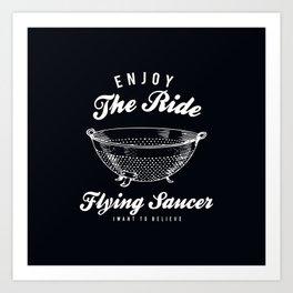 Flying Saucer Art Print