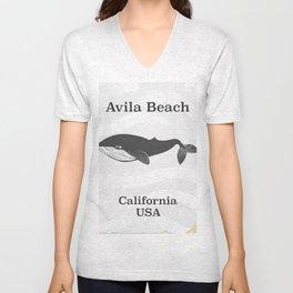 Avila Beach California Travel poster Unisex V-Neck