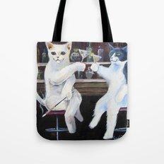Social Cats  Tote Bag