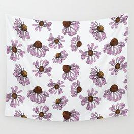 Echinacea pattern Wall Tapestry