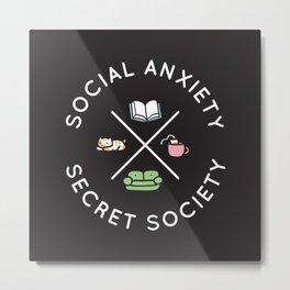 Social Anxiety Secret Society Metal Print