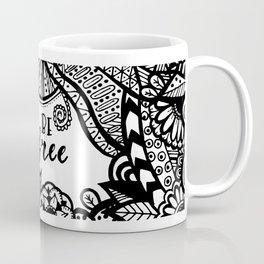 Be Free Zentangle Pattern Coffee Mug