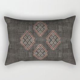 Kilim in Black and Pink Rectangular Pillow