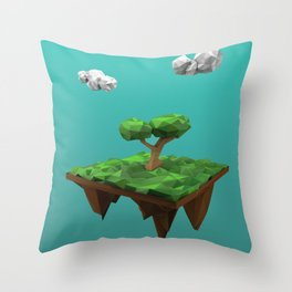 lowpoly summer Throw Pillow