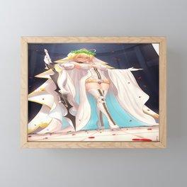 anime anime girls digital artwork 2D portrait display vertical Fate/Grand Order Fate Series Nero Bride Nero Claudius Framed Mini Art Print