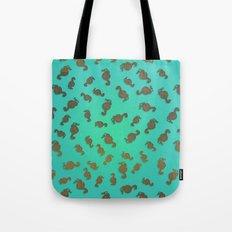 Copper Seahorses in an Aqua Sea Tote Bag