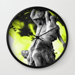 Statue of the robbery of Polyxena by Pio Fedi in  Florence Wall Clock