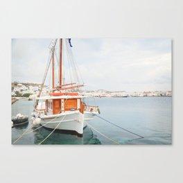 Mykonos Harbor Canvas Print