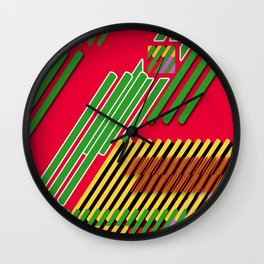 Slicing Pattern—lines and clrs—⁄ ⁄⁄ neå† design!¡!¡!COOOOL!¡!¡!¡! Wall Clock