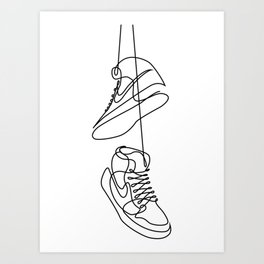 Sneakers art,Casual Shoes,Hipster Prints, Wall Art,Large Poster Decor,shoe art ,Black White Art Print