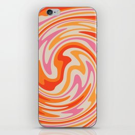 70s Retro Swirl Color Abstract iPhone Skin