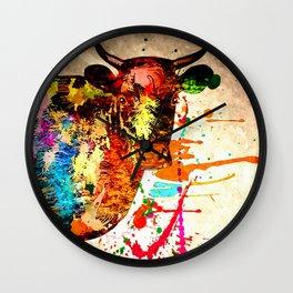 Cow Grunge Wall Clock
