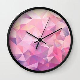 polygonal pink pattern Wall Clock