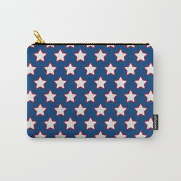 Patriotic Stars on Blue Carry-All Pouch