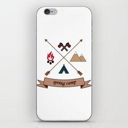 Camping Spring Camp adventure design iPhone Skin