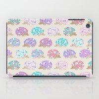 polkadot iPad Cases featuring Hedgehog polkadot by Heleen van Buul