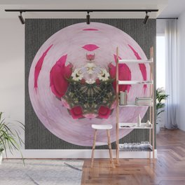 Pink/Gray Rose Abstract Wall Mural