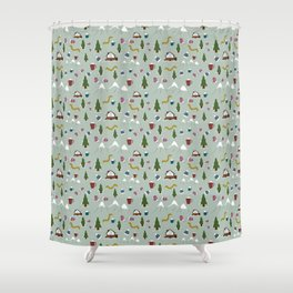 Winter Vacation Shower Curtain