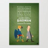 birdman Canvas Prints featuring Birdman by Diego Riselli
