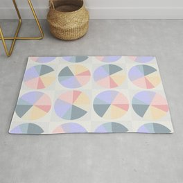 Abstract pattern circles and squares pastel colors Rug