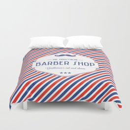 Mr. Moustache Barber Shop Duvet Cover