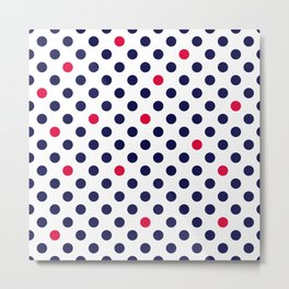 Red blue polka dot Metal Print