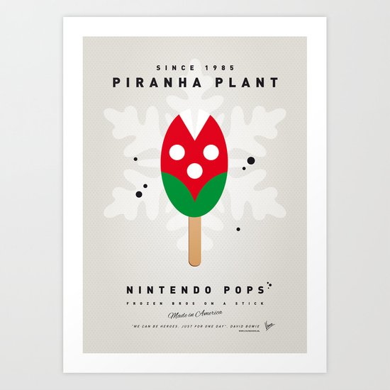 My NINTENDO ICE POP - Piranha Plant Art Print
