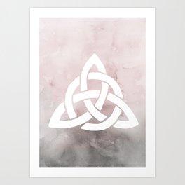 Dusky Triquetra, Celic Symbolism, Irish Watercolor Art Print