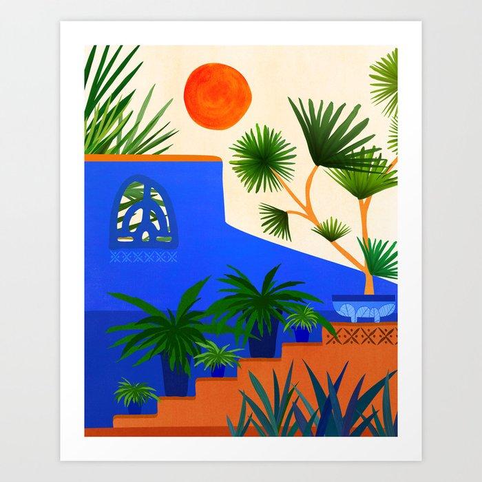 Southwest Summer Garden / Desert Landscape Art Print
