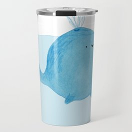 The Enigmatic Pudding Whale Travel Mug