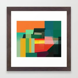 Sideways Stacks Framed Art Print