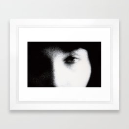 blue eye Framed Art Print