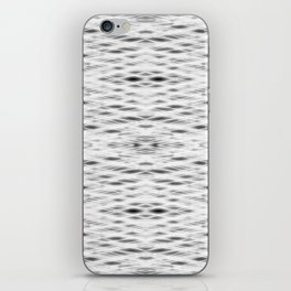 Silver Zigzag pattern iPhone Skin