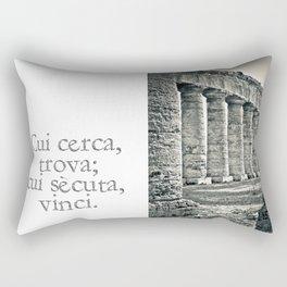Temple of Segesta Rectangular Pillow