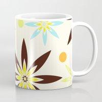 70s Mugs featuring 70s flowers by Keyweegirlie