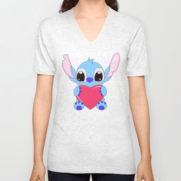 Stitch Inlove Unisex V-Neck