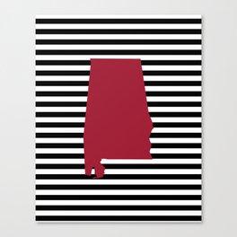 Bama crimson tide college state pattern print university of alabama varsity alumni gifts stripes Canvas Print