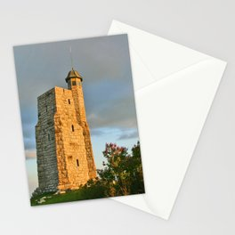 All along the The Smiley Tower Stationery Cards