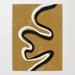 Abstract line art Poster