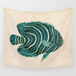 Green Fish Wall Tapestry