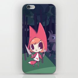 Red Riding Fox have big teeth iPhone Skin