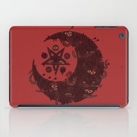 pentagram iPad Cases featuring The Dark Moon Compels You to Fuck Shit Up by Hector Mansilla