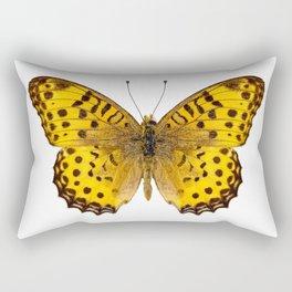 """Butterfly species Argynnis hyperbius """"Indian Fritillary"""" Rectangular Pillow"""