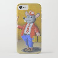college iPhone & iPod Cases featuring College Rat by Wintoons