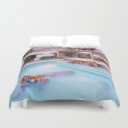 Palm Springs Tigers Duvet Cover