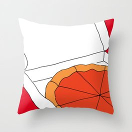 Hot Pizza Box Throw Pillow
