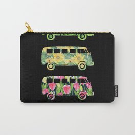 Four Natural Vans, Black Background Carry-All Pouch